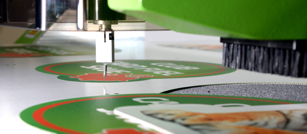 Signage printing close up